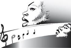serie för jazzmusik Arkivfoto