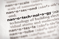 serie för ordboknanotechnologyvetenskap Royaltyfri Foto