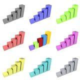 serie för samling för stångdiagram generisk Arkivbild