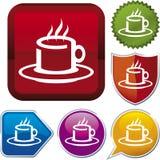 serie för symbol för kaffekopp Arkivbilder