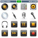 serie för symbolsmusikrobico Arkivbilder