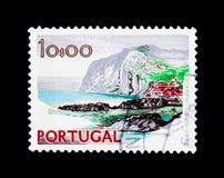 Serie för udde Girao, madeira-, landskap- och monument, circa 1978 Royaltyfria Bilder