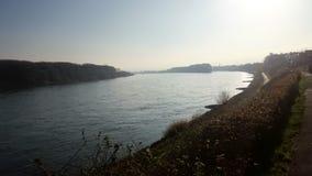 Serie flod Rhein Fotografering för Bildbyråer