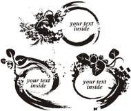 Serie floral del marco de Grunge Imagenes de archivo