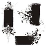 Serie floral del marco del grunge Fotos de archivo libres de regalías