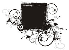Serie floral del marco del grunge