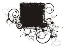 Serie floreale del blocco per grafici del grunge