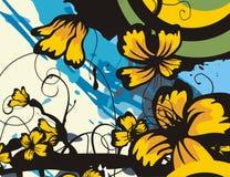 Serie floreale della priorità bassa royalty illustrazione gratis