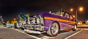 serie Ford Falcons för 70-tal X på natten Royaltyfri Bild
