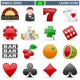 serie för kasinosymbolsrobico Arkivbild