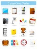 serie för kontor för businnescalorusymbol Arkivfoton