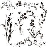 Serie giapponese di disegno floreale Fotografia Stock