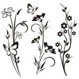 Serie giapponese di disegno floreale Immagini Stock