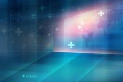 Serie global 579 del concepto del fondo de la conectividad de la salud médica ilustración del vector