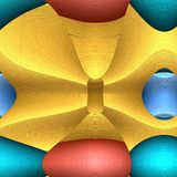 Serie - gra kształty abstrakcjonistycznej sztuki t?o nowo?ytny Przygotowania wibrujący tomowi abstraktów kształty Temat twórczość ilustracja wektor