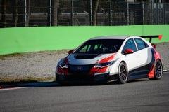 Serie Honda Civic 2015 de la prueba TCR de la pretemporada de Monza Foto de archivo