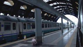 Serie im Bahnhof stock footage