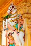 Serie india de la estatua del templo Foto de archivo