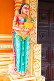 Serie india de la estatua del templo Fotos de archivo libres de regalías