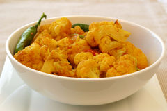 Serie india del alimento - coliflor imagen de archivo