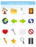 Serie-Internet y Blogging del icono de Caluro Imagenes de archivo