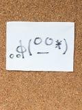 Serie Japońscy emoticons dzwonili Kaomoji, uczy się Zdjęcie Stock