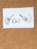 Serie Japońscy emoticons dzwonili Kaomoji, zawartość Obraz Royalty Free