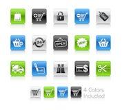 Serie limpia de // de los iconos de las compras libre illustration