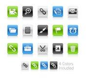 Serie limpia de // de los iconos del interfaz Imagenes de archivo