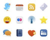 Serie lisa > iconos sociales de los media Foto de archivo