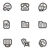 Serie llana del icono - Web Imágenes de archivo libres de regalías