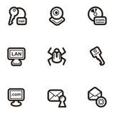Serie llana del icono - Web Imagen de archivo
