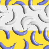 Serie malujący banany Zdjęcia Stock