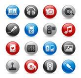 Serie Media- u. Unterhaltungs-//-Gelpro Lizenzfreie Stockfotos