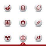 Serie medica dell'icona Immagini Stock Libere da Diritti