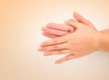 Serie medica di gesto di mano del lavaggio Fotografie Stock Libere da Diritti