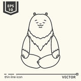 Serie meditativa de los animales - oso Imágenes de archivo libres de regalías