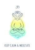 Serie meditativa 2 degli animali Immagine Stock Libera da Diritti