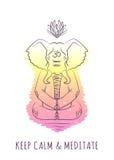 Serie meditativa 2 degli animali royalty illustrazione gratis