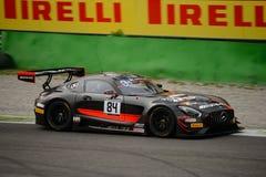 Serie Mercedes-AMG GT3 de Blancpain GT que compite con en Monza Imagen de archivo libre de regalías