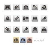 Serie metallica delle unità & del calcolatore Immagine Stock