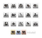 Serie metallica di // del blog & del Internet Fotografia Stock