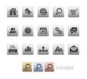 Serie metallica di // del Internet & di Web site Fotografia Stock