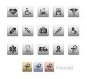 Serie metallica di // di cura della brughiera & della medicina Immagine Stock Libera da Diritti