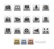 Serie metallica di // di multimedia Fotografia Stock