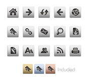 Serie metallica di // di percorso di Web Immagine Stock