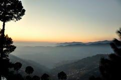 Serie mgłowe góry Obrazy Royalty Free