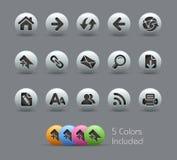 Serie nacarada de // de los iconos de la navegación del Web Imágenes de archivo libres de regalías