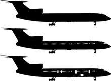 Serie nera dell'aeroplano Fotografia Stock Libera da Diritti