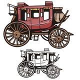 Serie occidental de la ilustración Imagen de archivo libre de regalías
